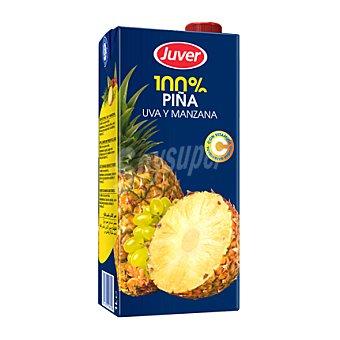 Juver Zumo de piña, uva y manzana 1 l