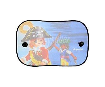 Playmobil Cortinilla lateral de poliester azul, con la serigrafia del playmobil pirata travel