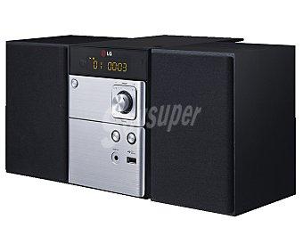 LG CM1530 Micro cadena hifi con sintonizador de radio am/fm, lector de CD, usb, y potencia de 10W