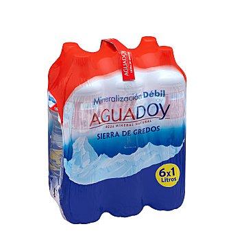 Aguadoy Agua mineral natural (mineralizacion debil) Botella pack 6 x 1 l - 6 l