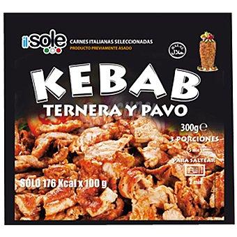 IL SOLE Carne para kebab de ternera y pavo Bolsa 300 g
