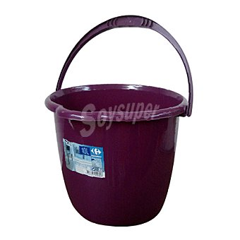 Carrefour Cubo de agua 10 litros color ciruela 1 ud