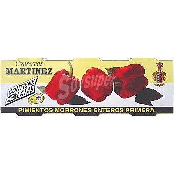Martinez Pimientos rojos neto escurrido Pack 3 latas 60 g