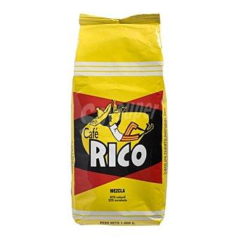 Rico Café en grano mezcla Paquete 1 kg