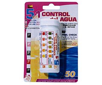 Pqs Lote de 50 tiras para analizar el cloro libre, cloro total, dureza total, alcalinidad total y el pH de tu piscina y spa y mantenerlos en unos niveles adecuados para el baño 1 unidad