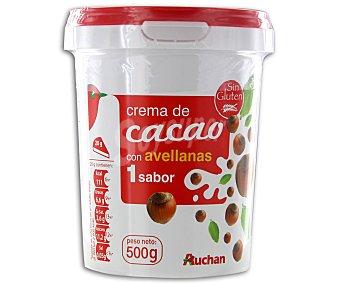 Auchan Crema de cacao con avellanas para untar 500 gr
