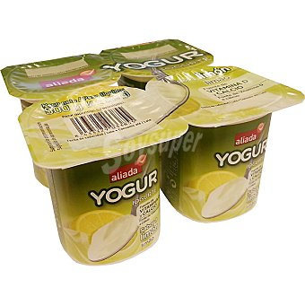 Aliada Yogur sabor limón pack 4 unidades 125 g Pack 4 unidades 125 g