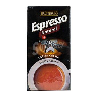 Hacendado Cafe molido espresso natural Nº 4 Paquete 250 g