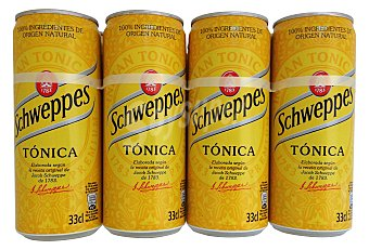 SCHWEPPES Tónica Lata pack 8 x 330 cc - 2640 cc