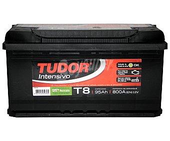 TUDOR Batería de arranque T8 12 Voltios 95Ah , potencia de arranque: 800 Amperios 1 unidad