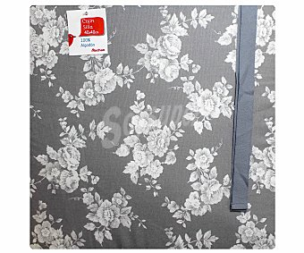 AUCHAN Cojín estampado para silla, modelo Panama, color gris 40x40 centímetros 1 Unidad