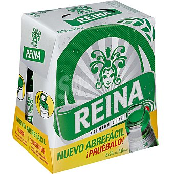 REINA ORO Cerveza rubia nacional pack 6 botellas 25 cl Pack 6 botellas 25 cl