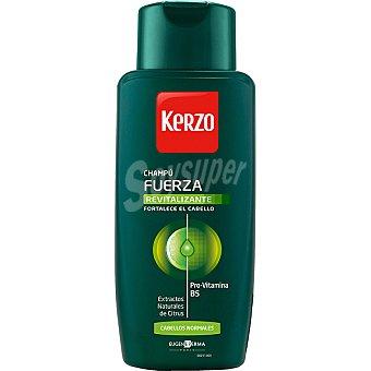 Kerzo Champú Fuerza Revitalizante con Pro-vitamina B5 y extractos naturales de Citrus para cabellos normales Frasco 400 ml