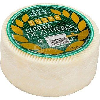 Sierra de zuheros Queso semicurado de cabra elaborado con leche pasteurizada sin gluten Envase 360 g
