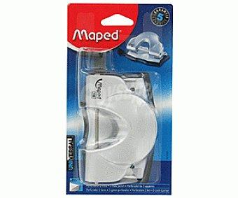 Maped Perforador de 2 agujeros, con deposito para los restos, compatible con hojas DIN A-4, A-5 y A-6, gracias a su selector de ancho y capaz de perforar entre 10 y 12 hojas a la vez maped 2 agujeros