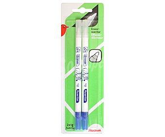 Auchan Lote de 2 correctores en formato bolígrafo con punta ogiva auchan 2u