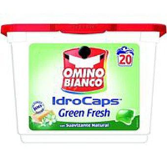 Omino Bianco Detergente en cápsulas verde suav. Caja 20 dosis