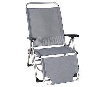 PROFILINE Tumbona plegable relax, fabricada en aluminio, con asiento y respaldo de tela, 216x70x44 centímetros Hamaca plegable aluminio