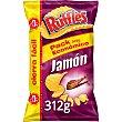 Patatas fritas sabor a jamón onduladas Bolsa 312 g Ruffles