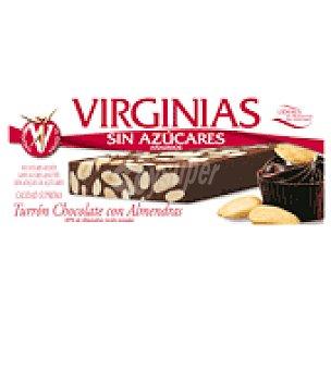 Virginias Turrón chocolate y almendras sin azúcar 200 g