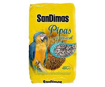San Dimas Pipas de girasol para pájaros 450 gramos