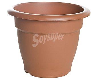 VAN Maceta plástica de tipo campana de color terracota y medidas de 23 x 21 centímetros 1 unidad