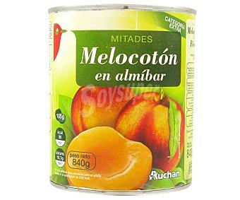Auchan Mitades de melocotón en almíbar 480 gr