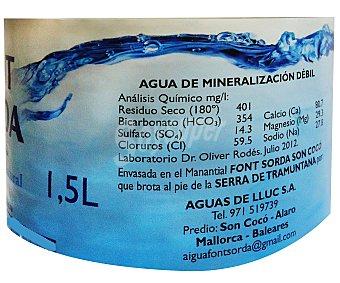 Fontsorda Agua mineral natural 1,5 l