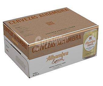 Alhambra Cerveza rubia especial Lager Pack de 12 uds. x 33 cl