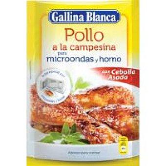 Gallina Blanca Aderezo para Pollo a la Campesina para Microondas y Horno
