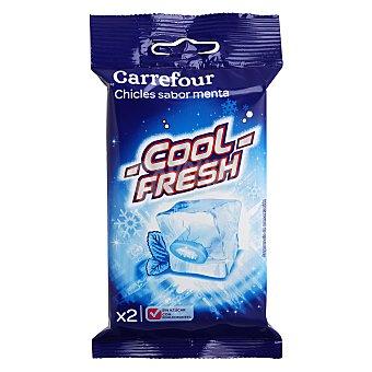 Carrefour Chicle menta sin azucar Pack de 5 unidades