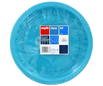 Nupik Platos azul turquesa 10 Unidades