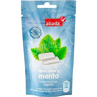 Aliada Chicles con sabor a menta sin azúcar 32 unidades bolsa 45 g 32 unidades