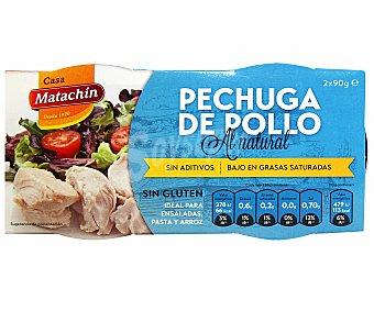MATACHÍN Pechuga de pollo al natural 116 gramos