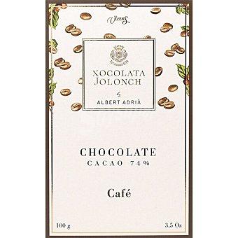 Jolonch Chocolate negro 74% cacao con café Tableta 100 g
