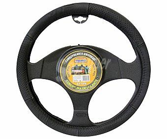 TROPHY Cubre volante de piel de color negro 1 unidad