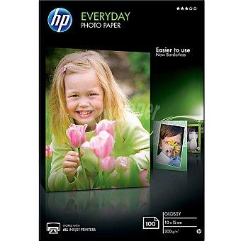 HP Papel fotográfico Glossy 100 hojas de 10 x 15 /m² 200 g