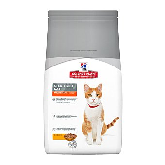 HILL'S SCIENCE PLAN Pienso para gatos adultos jóvenes Hills Science Plan Sterilised pollo 1,5 Kg