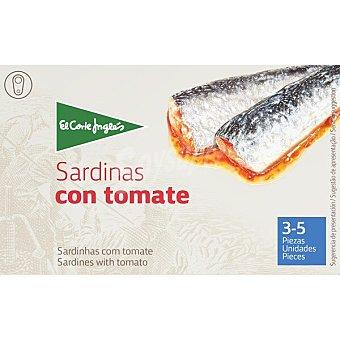 El Corte Inglés Sardinas en tomate 3-5 piezas Lata 87 g neto escurrido