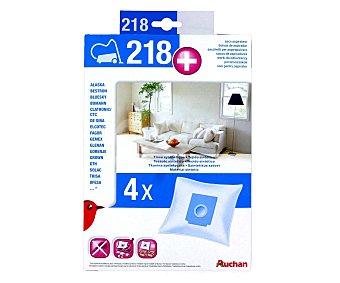 Qilive Pack de 4 bolsas de aspirador auchan Nº218+ ( Q.9852) Nº218+ (qilive Q.9852)