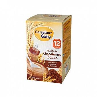 Carrefour Baby Papilla infantil desde 12 meses de cereales con cacao 1200 G 1200 g
