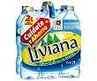 Agua mineral Botella de 2 litros pack de 6 Fuente Liviana