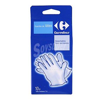 Carrefour Guantes de látex desechables talla mediana 7-8 10 ud