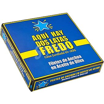 FREDO DEL CANTABRICO Filetes de anchoa en aceite de oliva neto escurrido Pack 2 latas 52 g