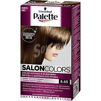 Schwarzkopf Palette Tinte nº 6.65 Rubio Oscuro Dorado color intenso y duradero Salon Colors Caja 1 unidad