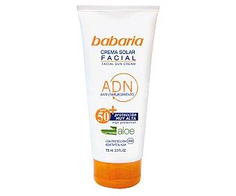 Babaria Crema Solar F50 Aloe Vera 75 ml