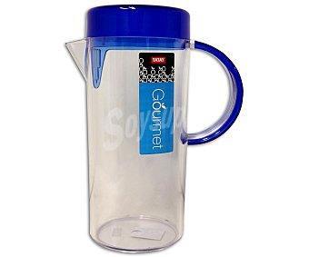 Tatay Jarra con filtro de salida, con capacidad de 1,7 litros, fabricada en plástico con tapa de color azul marino 1 Unidad