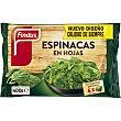 Espinacas en hojas Bolsa 400 g Findus