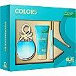 Colors Blue eau de toilette natural femenina + body lotion tubo 50 ml + vial 15 ml spray 50 ml Benetton