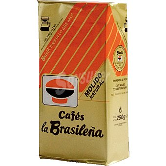 BRANIK CAFES LA BRASILEÑA Café natural molido de Italia paquete 250 g Paquete 250 g